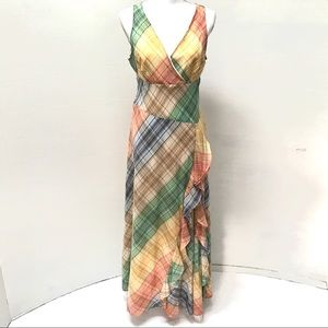 EUC Tommy Hilfiger Plaid Print Maxi Dress Sz 8